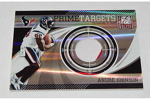 Andre Johnson 2010 Donruss Elite Prime Targets Game Worn ...