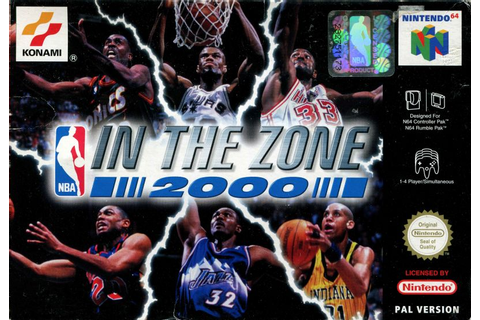 NBA in the Zone 2000 for Nintendo 64 (2000) - MobyGames