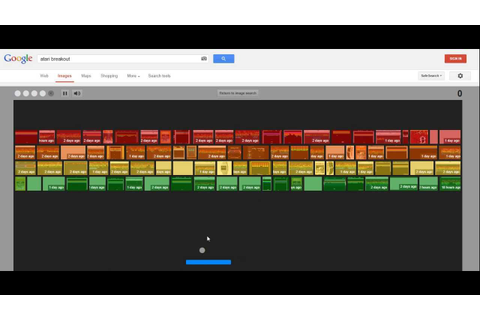 Google Atari Breakout Game - YouTube