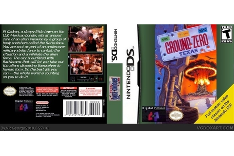 Ground Zero Texas Nintendo DS Box Art Cover by VicGeorge2010