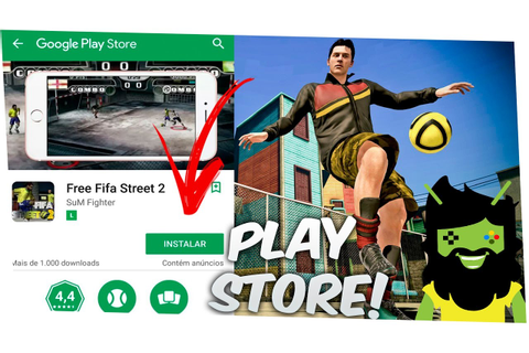 DOWNLOAD FIFA STREET 2 NA PLAYSTORE ANDROID GAMEPLAY - YouTube