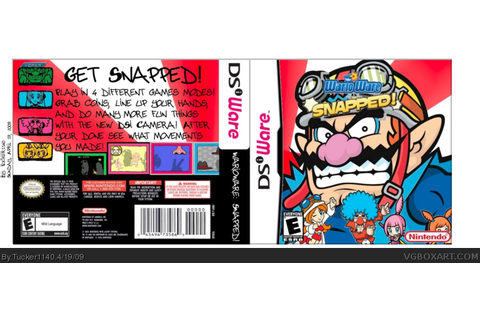 Warioware: Snapped! Nintendo DS Box Art Cover by Tucker1140