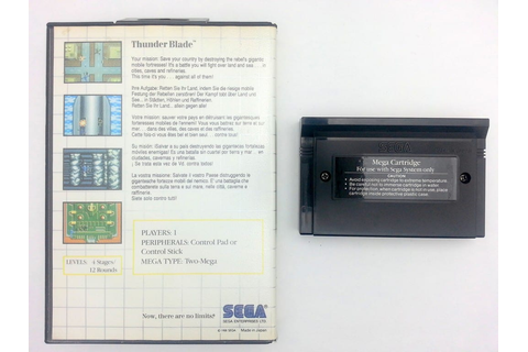 Thunder Blade game for Sega Master System -Game & Case ...