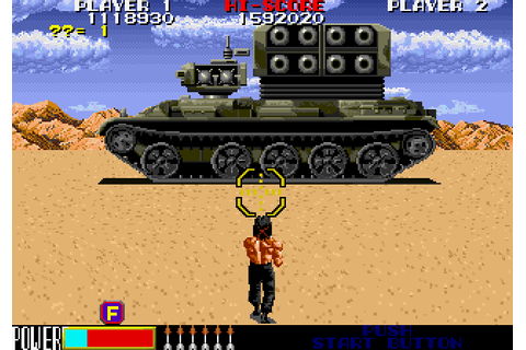 Rambo III (1989) by Taito Arcade game