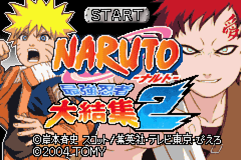 Naruto: Ninja Council 2 (2004) by Tomy GBA game