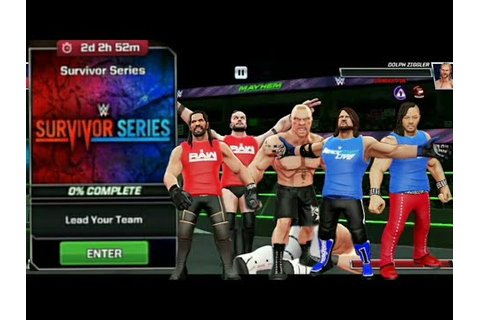 WWE MAYHEM SURVIVOR SERIES GAME PLAY - YouTube