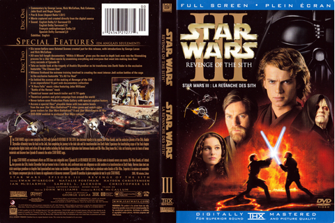 Jaquette DVD de Star wars - La revanche des siths ...