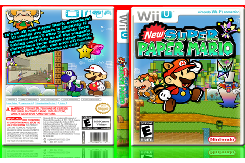 New Super Paper Mario Wii U Box Art Cover by dimentio64