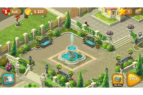 Gardenscapes - Tour of the garden - level 1150 - YouTube