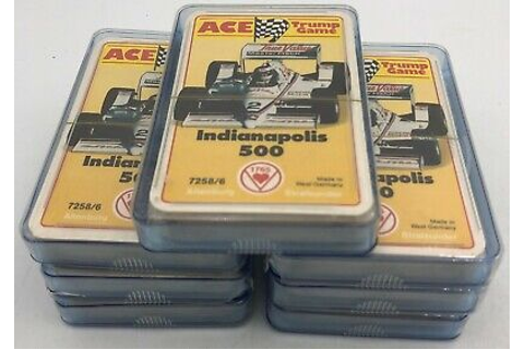 (7) Indianapolis Indy 500 Racing Ace Trump Card Game Card ...