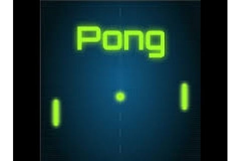 One Of The First video games ever made. |Pong. - YouTube
