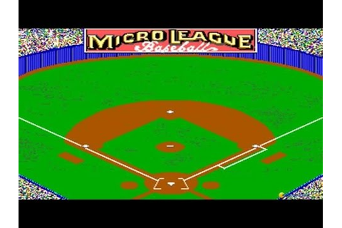 Micro League Baseball 2 gameplay (PC Game, 1989) - YouTube