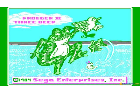 Frogger 2 - ThreeeDeep gameplay (PC Game, 1984) - YouTube