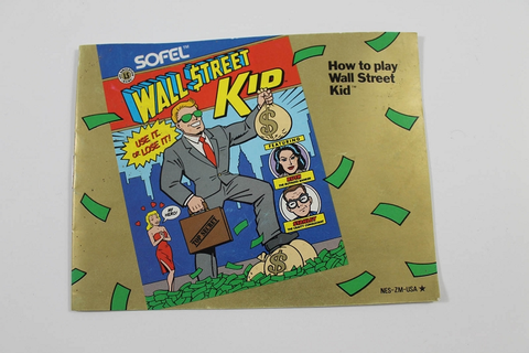 Manual - Wall Street Kid - Nes Nintendo