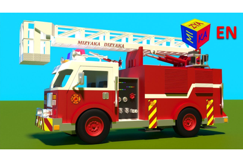 Fire truck responding to call - construction game cartoon ...