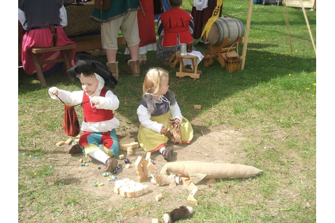 children's games at a viking festival | Vikings ...