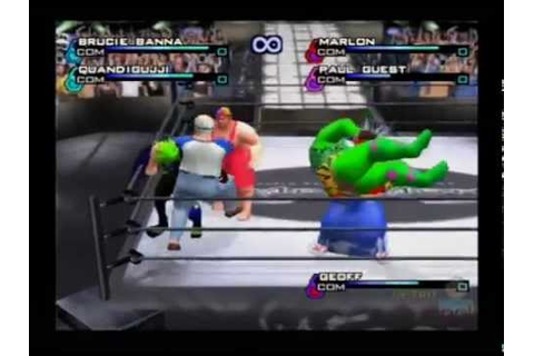 WWF Smackdown Just Bring It! PS2 Gameplay (8 Man Survival ...