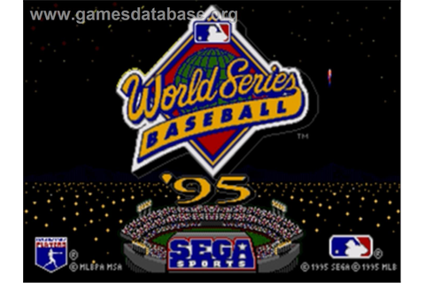 World Series Baseball '95 - Sega Nomad - Games Database