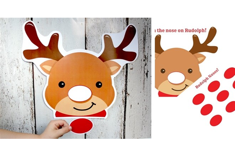 PRINTABLE Pin the Nose on Rudolph Game | Jane