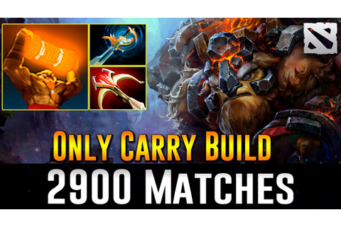 Earthshaker 2900 Games [Only Carry Build] Dota 2 - YouTube