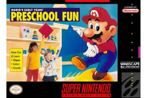 Mario's Early Years : Preschool Fun [USA] - Super Nintendo ...