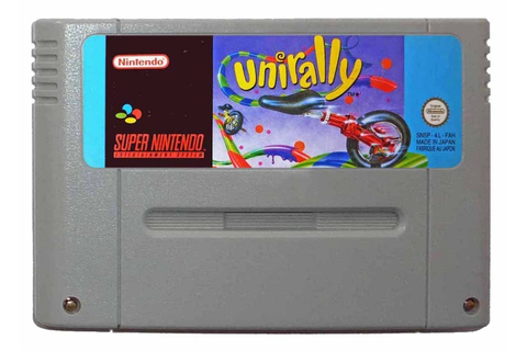 UNIRALLY (SNES Game) Uni Cycle Unicycle Rally Super ...