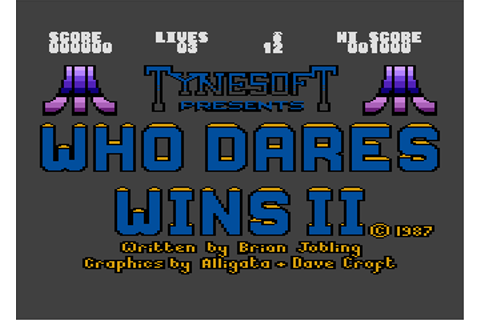 Download Who Dares Wins II - My Abandonware
