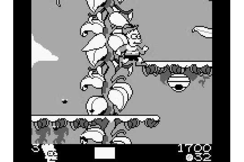 The Simpsons: Bart And The Beanstalk (Game Boy) with ...