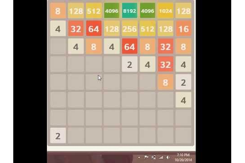 16384 game in 12 minutes! playing 2048 on an 8 x 8 grid ...