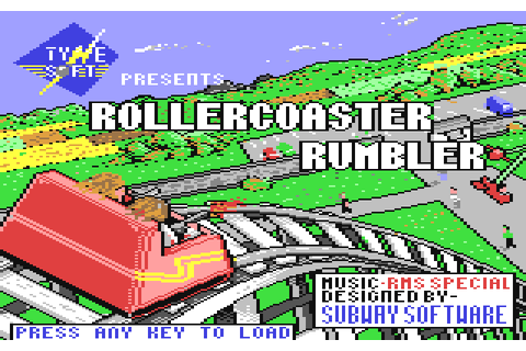 Roller Coaster Rumbler (1989) by Tynesoft C64 game