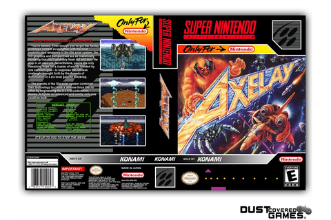 Axelay SNES Super Nintendo Game Case Box Cover Brand New ...