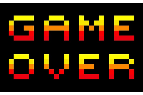 """Retro Game Over Pixel Graphic"" Canvas Prints by ..."