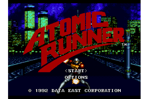 Atomic Runner (1992) by Data East Mega Drive game