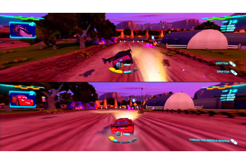 Cars 2 Game Play 2 player split screen 003 - YouTube