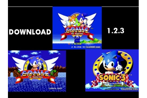 DOWNLOAD Sonic The Hedgehog 1 OR 2 OR 3 game free PC full ...