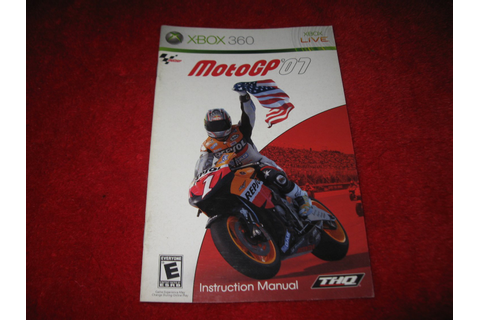 MotoGP '07 : Xbox 360 Video Game Instruction Booklet
