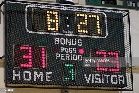Scoreboard Stock Photos and Pictures | Getty Images