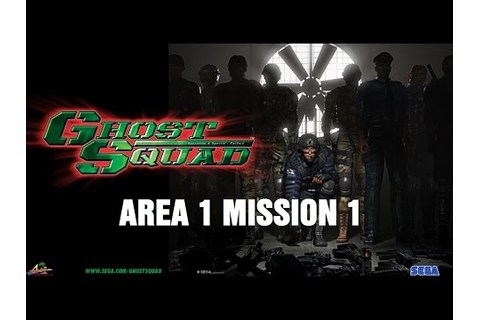 Sega's GHOST SQUAD Arcade Area1 Mission 1 Gameplay - YouTube