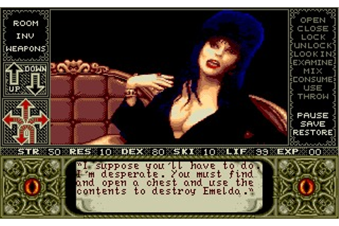 Elvira: Mistress of the Dark (Amiga) Game Download