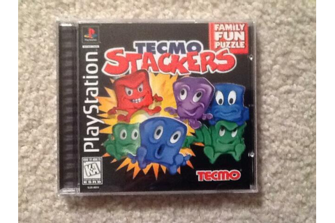 TECMO STACKERS Playstation PS1 COMPLETE FUN GAME vg | eBay