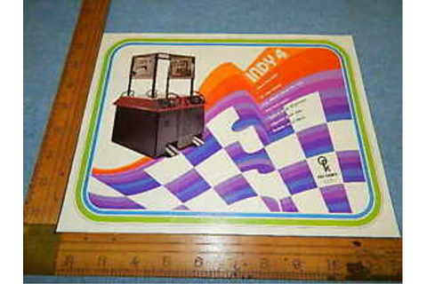 1976 Atari Kee Games INDY 4 Four Player Video Arcade Game ...