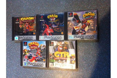 Crash bandicoot collection x5 games with books for ...
