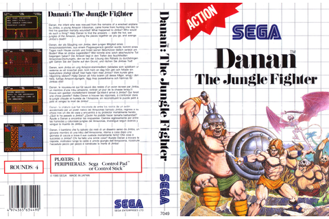 Danan: The Jungle Fighter / Danan - Europe All sides ...