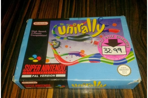 Boxed Pixels: Snes Review : Unirally (Game 021)