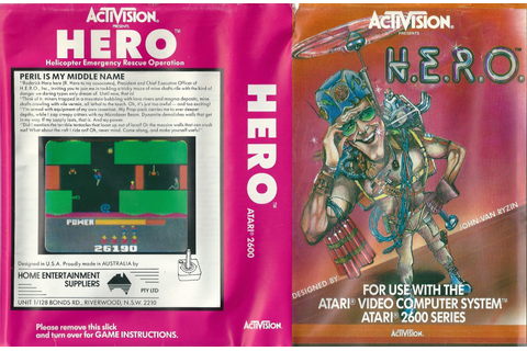 Atari 2600 VCS H.E.R.O. : scans, dump, download ...