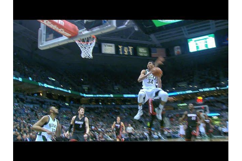Giannis Throws Down Double Clutch Dunk | 01.13.17 ...