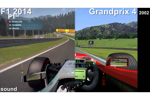 F1 2014 vs. Grandprix 4 ('02) - YouTube