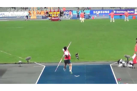 asian games. javelin throw. - YouTube