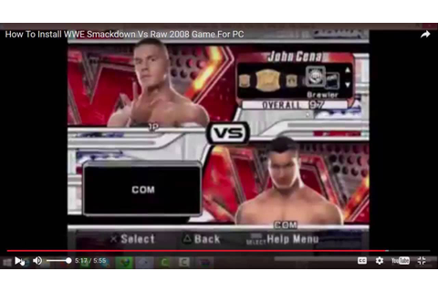 How To Download WWE Smackdown Vs Raw 2008 For PC - Game ...
