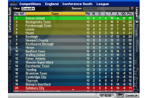 Screens: Championship Manager 2007 - PS2 (2 of 9)